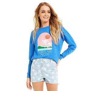 Wildfox NWT Turks and Caicos Fiona Crew Pullover M